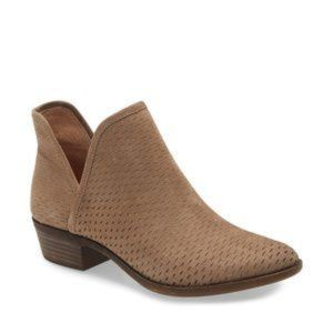 Lucky Brand | Tan Suede Perforated Bashina Bootie